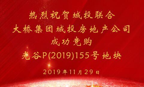 188BET金宝搏亚洲体育房地产公司成功竞得光谷(2019)155号地块